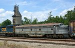 Close up of NYC 4096 and the Coal tower at Sandy Hook Yard