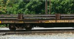 Many cars in Q30312's consist included these bulkhead flats loaded with 85-ft pieces of rail.  Nice to see the C&O reporting mark
