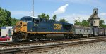 Q30313 with VLIX 4096 and his Lynchburg pick up eases past the Sandy Hook yard office
