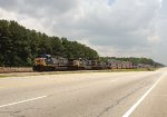 CSX AC44CW trio 289, 5, and 134 wait for green