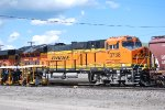 BNSF 3738 is the #2 locomotive pulling a Loaded Grain Train westbound from MRL Missoula Montana towards BNSF Hauser, Idaho with a MRL Train Crew accomplishing this feat.