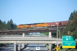 BNSF 3738 has made the split to the Pasco Washington track through Laytar Junction.