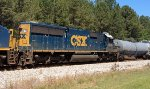 CSX SD50-2 8576 runs third