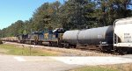 CSX AC44CW 464, ES44AH 3231, and SD50-2 8576 rush mixed freight southbound