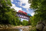 VRS GMRC Train 263-26 High Above the Mill River
