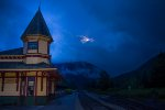 Crawford Notch Depot at Dusk