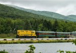 CSRR Train 162 across Saco Lake