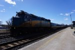 VIA Rebuilt F40PH-2D 6415 through Brockville, Ont, CA