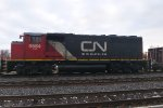 CN GP40-2WL leading L532 through Brockville!