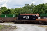 A SD40-2 rests in the yard