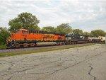 BNSF 7452, NS 9181, BNSF 9678