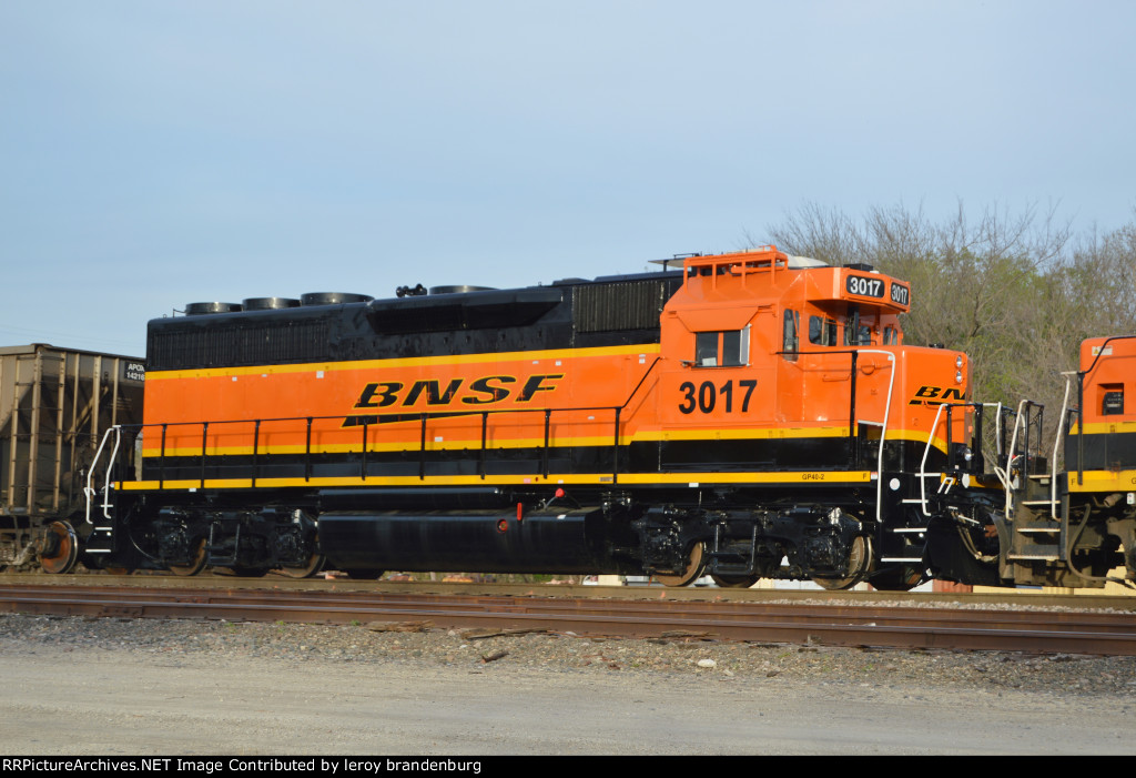 BNSF 3017 fresh out of the paint shop