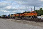 BNSF 8237 with the KCKTUL with a bnsf gevo,h2 dash9, ex santa fe gp39-2,ex frisco,bn gp15-1,ex conrail, ns gp15-1 and a nrex ex ic gp11
