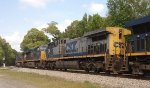 CSX ES40DC 5396, AC44CW 288, and ES44AC's 3155 and 3017 run light