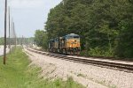 CSX ES40DC 5396 leads a quartet of units running light