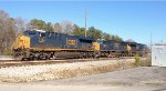 CSX ET44AH 3259, SD70AC 4558, and ES44AC-H 3152 run light