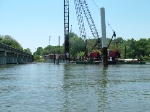 Driving piles