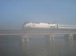 Amtrak in the fog