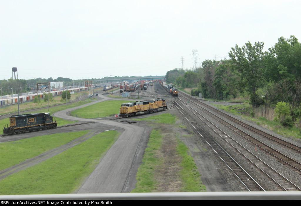 CSX DeWitt Yard from Interstate 481