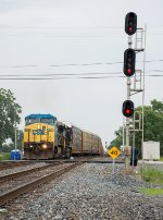Another Train Takes the Crossover at Attica Jct