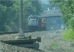 NJ Transit GP40-2 4303 with work train