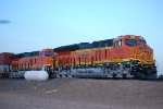 A Far Away Shot of The Newest Tier 4's BNSF 3762 and BNSF 3763 as they wait for a Train Crew to take Them Westbound to the BNSF Belen, New Mexico Yard.