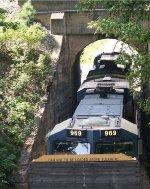 CSX 465 and 969 roll through the CSX overpass