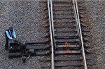 Trainman on Lynchburg Regional throws mainline switch to allow Lynchburg Regional to leave its storage track