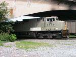 Eastbound coal awaiting signal at Old Virginian Depot