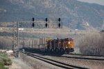 BNSF4184, BNSF5231, BNSF5124, BNSF3926 and BNSF1731 approaching Cajon Station