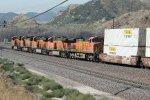 BNSF4386, BNSF7677, BNSF4204, BNSF5374 passing Cajon Station