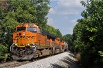 BNSF 4244 On CSX S 350 Westbound On The Indy Sub