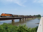 BNSF 6000 Crosses the Platte River