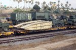 TTX 60' flat HTTX 93884 with military (USMC) bridge load.