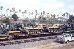 DODX 40533 flat with USMC loads.