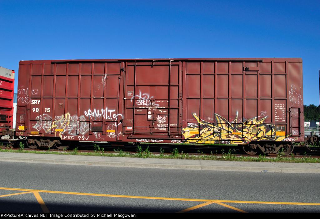 SRY 9015  50-6 ft Single Door Excess Height Boxcar
