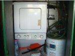 RDG 15 washer/dryer/hot water heater detail