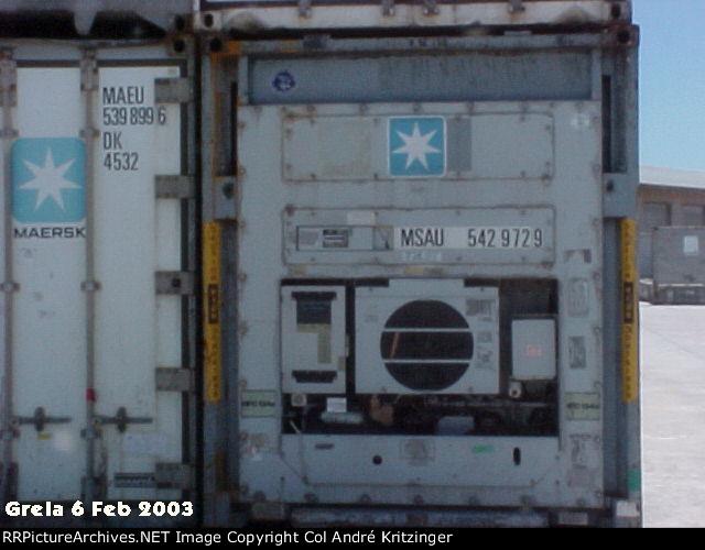 Maersk SeaLand 45R1 MSAU 542972 9