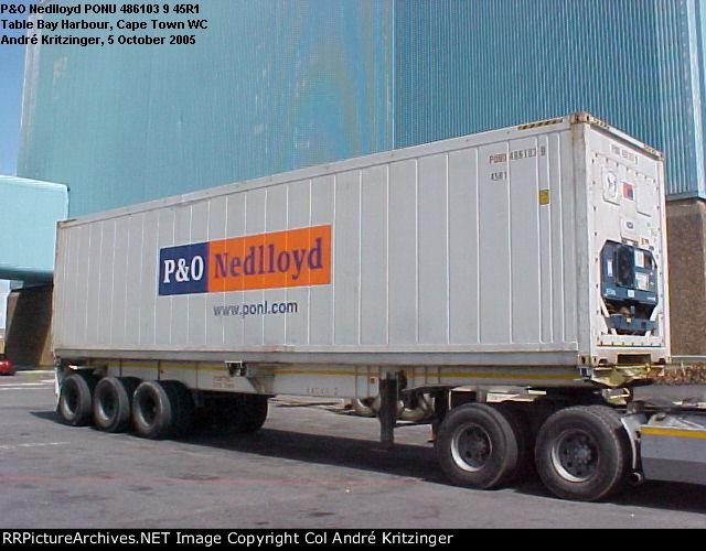 P&O Nedlloyd 45R1 PONU 486103 9