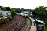Another commuter train arrives at Port Jeff