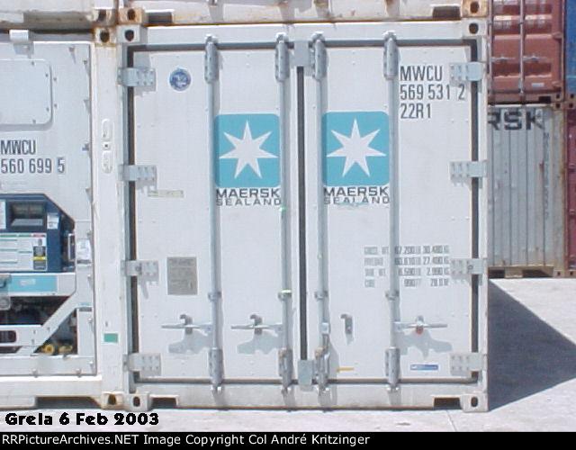 Maersk SeaLand 22R1 MWCU 569531 2
