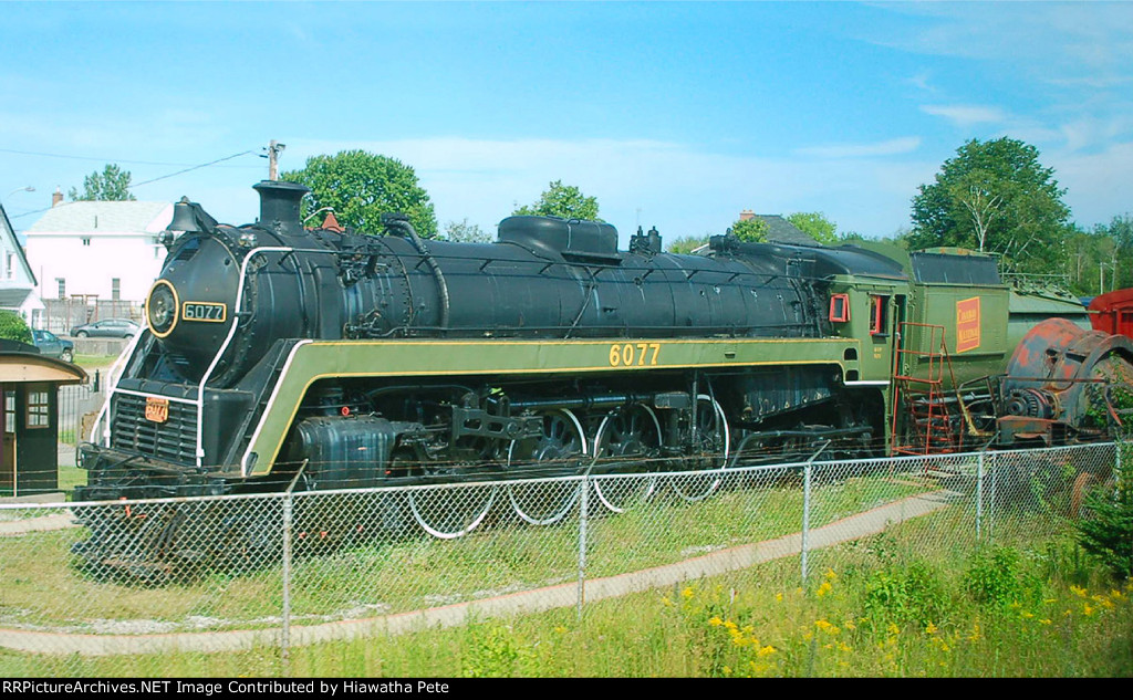 CN BULLET NOSE BETTY CLASS U1F STEAM LOCOMOTIVE ON DISPLAY AT CAPREOL ON