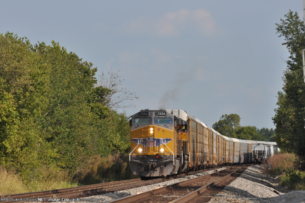 UP 7254 On NS 288 Westbound