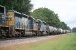 CSX SD40-2s 8812 and 8212