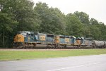 CSX SD70MAC 4571 and SD40-2s 8812 and 8212
