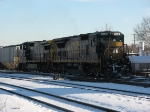 CSX 7535 Leads a Transfer into Bensenville Yard