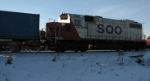 SOO 4438 Switches a Cut of Intermodal