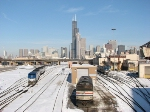 Amtrak and downtown Chicago