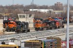 BNSF 1568 & PRLX 3617 sit in front of a road power set