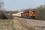 Rolling at every bit of track speed, BNSF 8205 leads Z-LACWSP9 into Rutledge